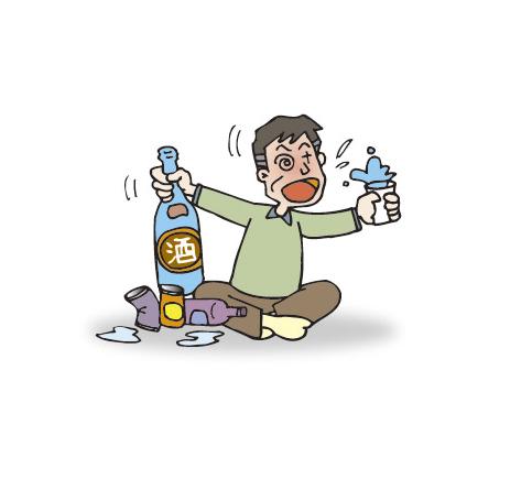 認知症とアルコール依存症を持つ男性への介護